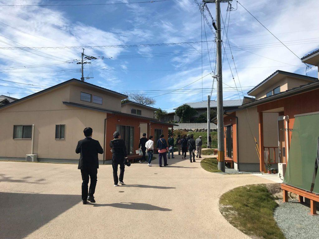 久しぶりの西原村山西地区災害公営住宅。