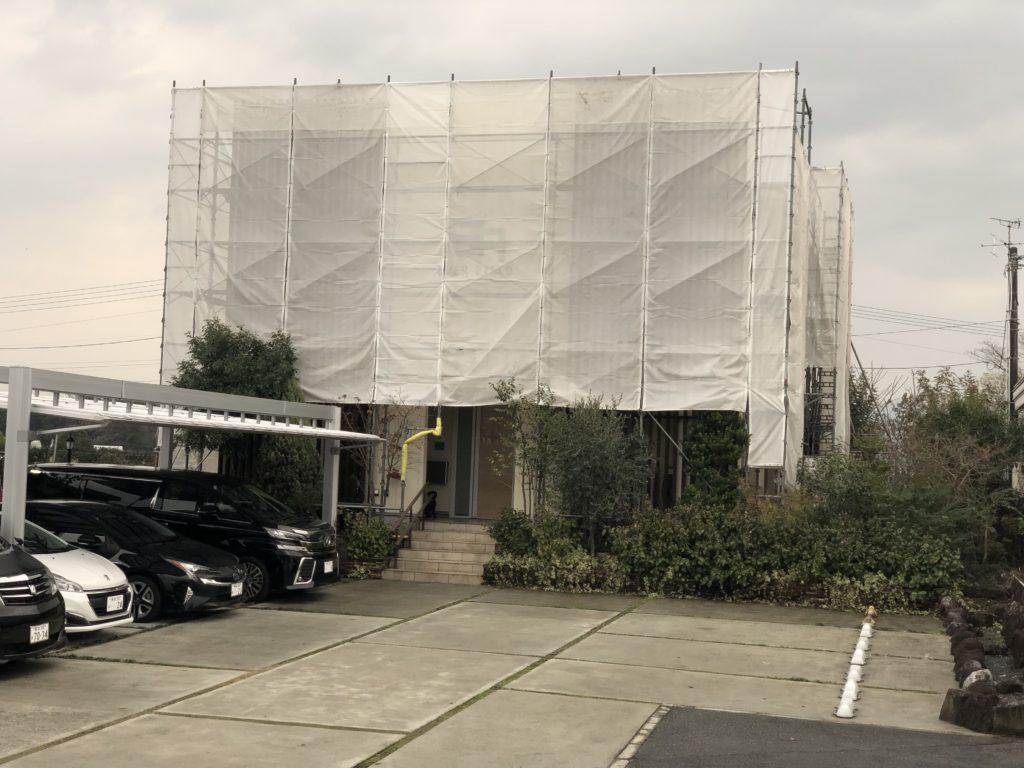 震災2年8ケ月後、やっと事務所復旧工事開始。